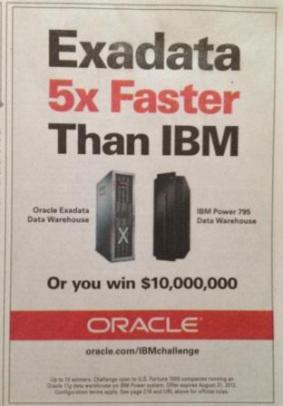 Oracle 10 million dollar challenge ad image