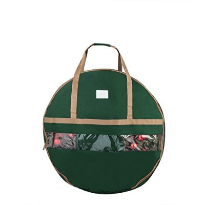 """Elf Stor 83-DT5168 Ultimate Green Holiday Christmas Storage Bag for 48"""" Inch Wreaths"""