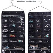 Hanging Jewelry Organizer with Zipper Hanger