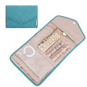 BAGSMART Travel Jewellery Organiser Roll Foldable Jewelry Case for Journey-Rings, Necklaces, Bracelets, Earrings, Teal