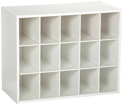 ClosetMaid 8983 Stackable 15-Unit Organizer, White
