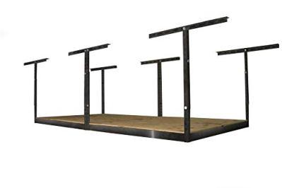 MonsterRax 4x8 Garage Storage Rack – Height Adjustable Steel Overhead Storage