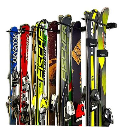 StoreYourBoard Omni Ski and Snowboard Wall Storage Rack   Holds 10 Pairs   Ski Wall Mount Home & Garage Storage Hanger