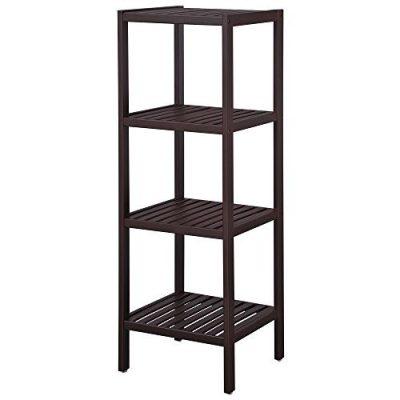 Bamboo Bathroom Shelf Stand 4-Tier