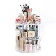 360-Degree Rotating Adjustable Multi-Function Acrylic Cosmetic Storage