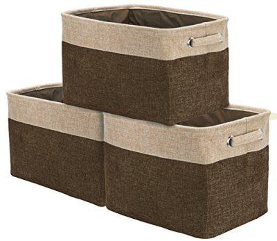 Sorbus Storage Large Basket Set [3-Pack]