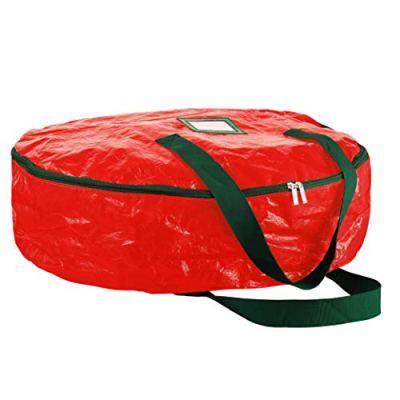 "ZOBER Christmas Wreath Storage Bag 30"" - Water Resistant Fabric Storage"