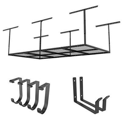 "FLEXIMOUNTS 4x8-2 Rack Package w/Accessory Hooks 22''-40"" Ceiling Dropdown"