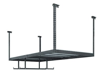 NewAge Products VersaRac Gray 1 Overhead Rack and 2 Piece Accessory Kit