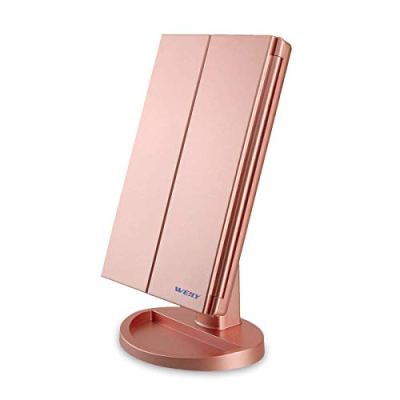 Tri-fold Vanity Mirror with 1X/2X/3X Magnification Mirrors