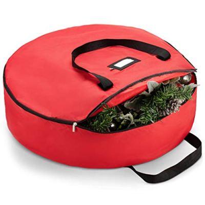 Zober Christmas Holiday Wreath Storage Bag - Premium 600D Oxford