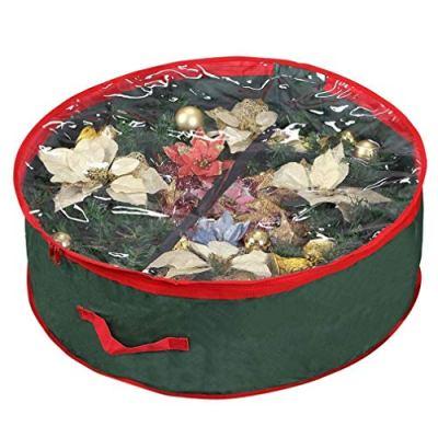 Primode Wreath Storage Bag with Clear Window | Garland or Xmas