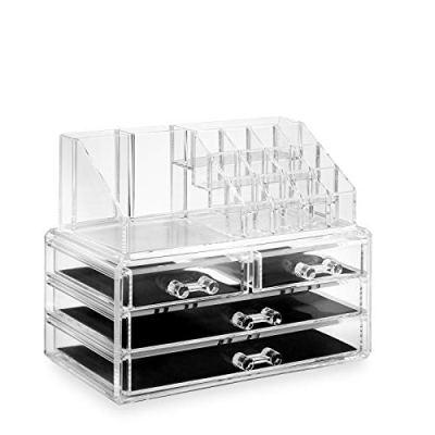 Cosmetic Makeup Organizer & Jewelry Storage Display Case