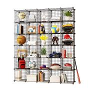KOUSI Storage Cubes Wire Grid Modular Metal Cubbies Organizer Bookcases