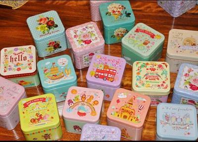 Cartoon 3D Candy Iron Box Jewelry Coins Small Storage Box Jars Metal Square Tea Box Christmas Tins B