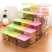 Plastic Food Storage Box Grain Container Kitchen Organizer Kitchen Organizer Food Snacks Organizer