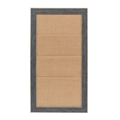 DesignOvation Wyeth Framed Burlap Pockets Wall Organization Board Gray