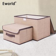 Eworld 2pcs Household Portable Box Waterproof Clothes Organizer Storage Box Underwear Bra Packing Makeup Cosmetic Coth Storage