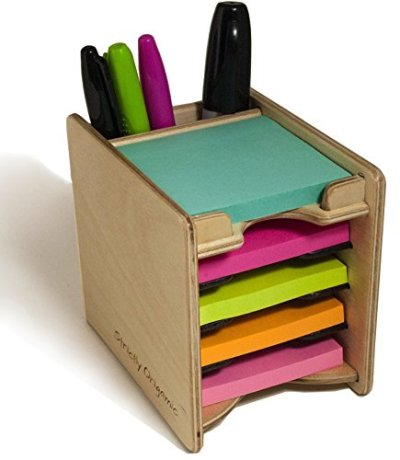 Strictly Origamic Colored Sticky Notes Pad and Pen Holder/Organizer