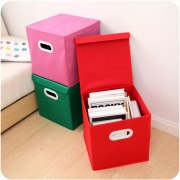 Spinning Cloth Folding Cover Storage Box With Handle Storage Box Finishing Clothing Wholesale Storage Racks And Basket