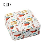 Sewing Element Printing Sewing Tools Storage Box Sewing Accessory Storage Sewing Case Artificial Leather Making