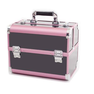 Pink Black Makeup Organizer,Portable Makeup Storage Box,Women Travel Make Up Organizer Case,Jewelry Box,Cosmetic Organizer Box