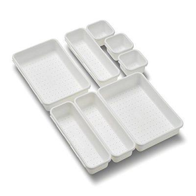 Value 8-Piece Interlocking Bin Pack - White
