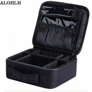 ALGHLH Brand Upgrade Adjustable Women Professional Makeup Bag Travel Waterproof Organizer Tattoo Nail Art Tool Storage Box