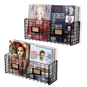 Magazine Racks Organizer Holder - Wall Mounted Storage