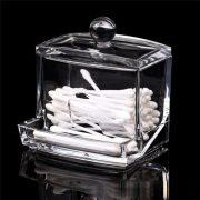 Clear Cotton Swabs Box Plastic Holder Cotton Swabs Stick Storage Box Case Cosmetic Makeup Organizer Women Storage Box 1 Piece