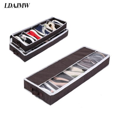 2017 Hot Multi-purpose Shoes Organizer Storage Shoe Case Coffee Bamboo Charcoal 5 Cell Space-saving Shoe Racks Storage Box