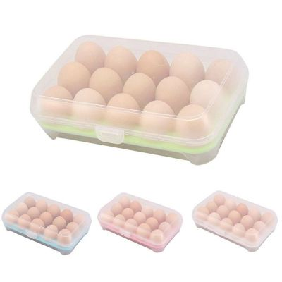New Arrival Useful Egg Refrigerator Fresh Box 15 Cells Portable Wild Storage Box New And High Quality