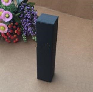 100pcs/lot 2.5*2.5*7.8cm Blank black kraft Paper Box Lipstick Perfume Essential Oil Bottle Storage Boxe valve tubes