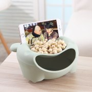 Food Snack Storage Boxes Office Desktop Double-layer Round Fruit Seeds Organizer Mobile Phone Holder Home Accessories Supplies