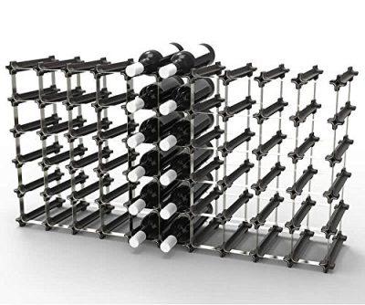 50 NOOK Wine Rack - Easy 2 Step Assembly – Capacity: 60 Bottles