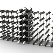 50 NOOK Wine Rack - Easy 2 Step Assembly – Capacity: 60 Bottles