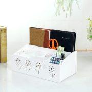 Fashion Desktop Storage Box Multifunctional Pumping Paper Box Remote Control Storage Holder Tissue Box