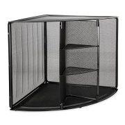 Rolodex Mesh Collection Corner Desktop Shelf Black (62630)