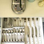 Knork Flatware Storage Tray, White