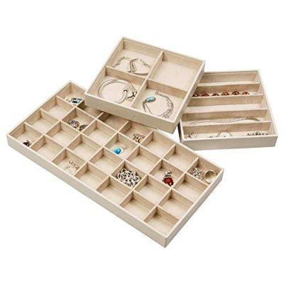 Elegant Jewelry Trays Set of 3 Stackable Jewelry Organizer Tray