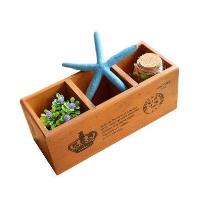 Home &Garden Multifunction Wooden Storage Boxes & Bins Creative Wood Box Pencil Vase Desktop Storage Case Office Desk Organizer