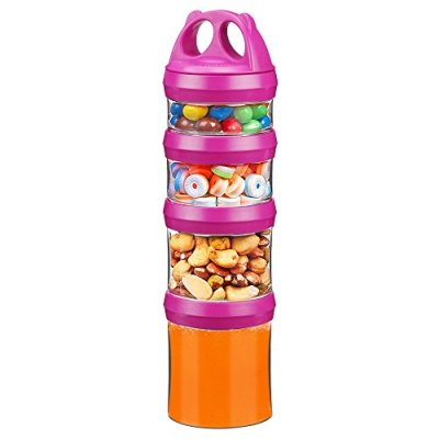 4-Piece Twist Lock Stackable Containers Travel,