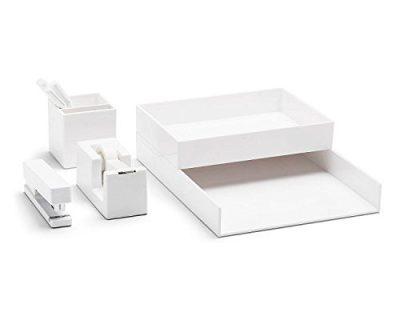 Poppin All Set, Desk Collection Set, White