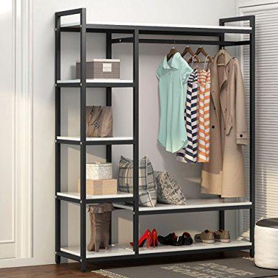 LITTLE TREE Free-Standing Closet Organizer,Heavy Duty Clothes Rack