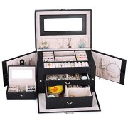 Kendal Large Leather Jewelry Box/Case/Storage/Organizer