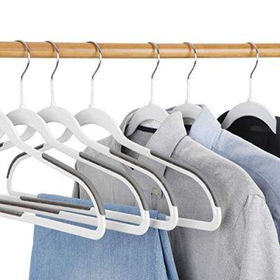 SUPER DEAL 50/100 Pack Non Slip Hangers Rubber Coating Clothes Hangers