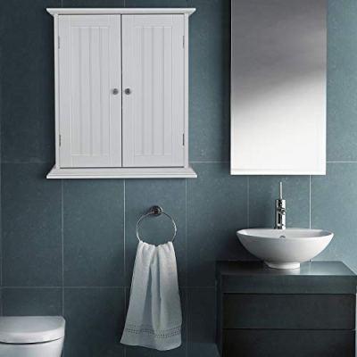 ChooChoo Bathroom Medicine Cabinet 2-Door Wall Cabinet Wood