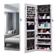 AOOU Jewelry Organizer Jewelry Cabinet,Full Screen Display View Larger Mirror