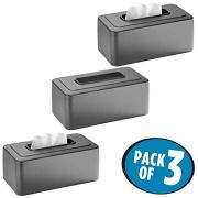 mDesign Modern Metal Tissue Box Cover for Disposable Paper Facial Tissues
