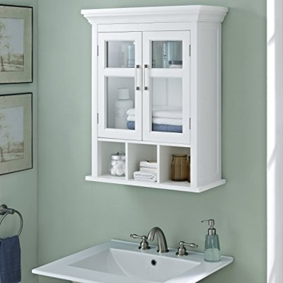 Simpli Home Avington 30 inch H x 23.6 inch W Two Door Wall Bath Cabinet